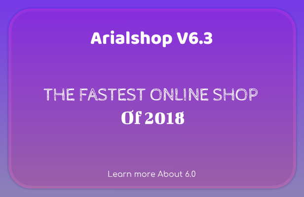 Arialshop - Javascript eCommerce Website With Modern Features - 2